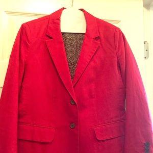 Red linen Luck Brand linen blazer